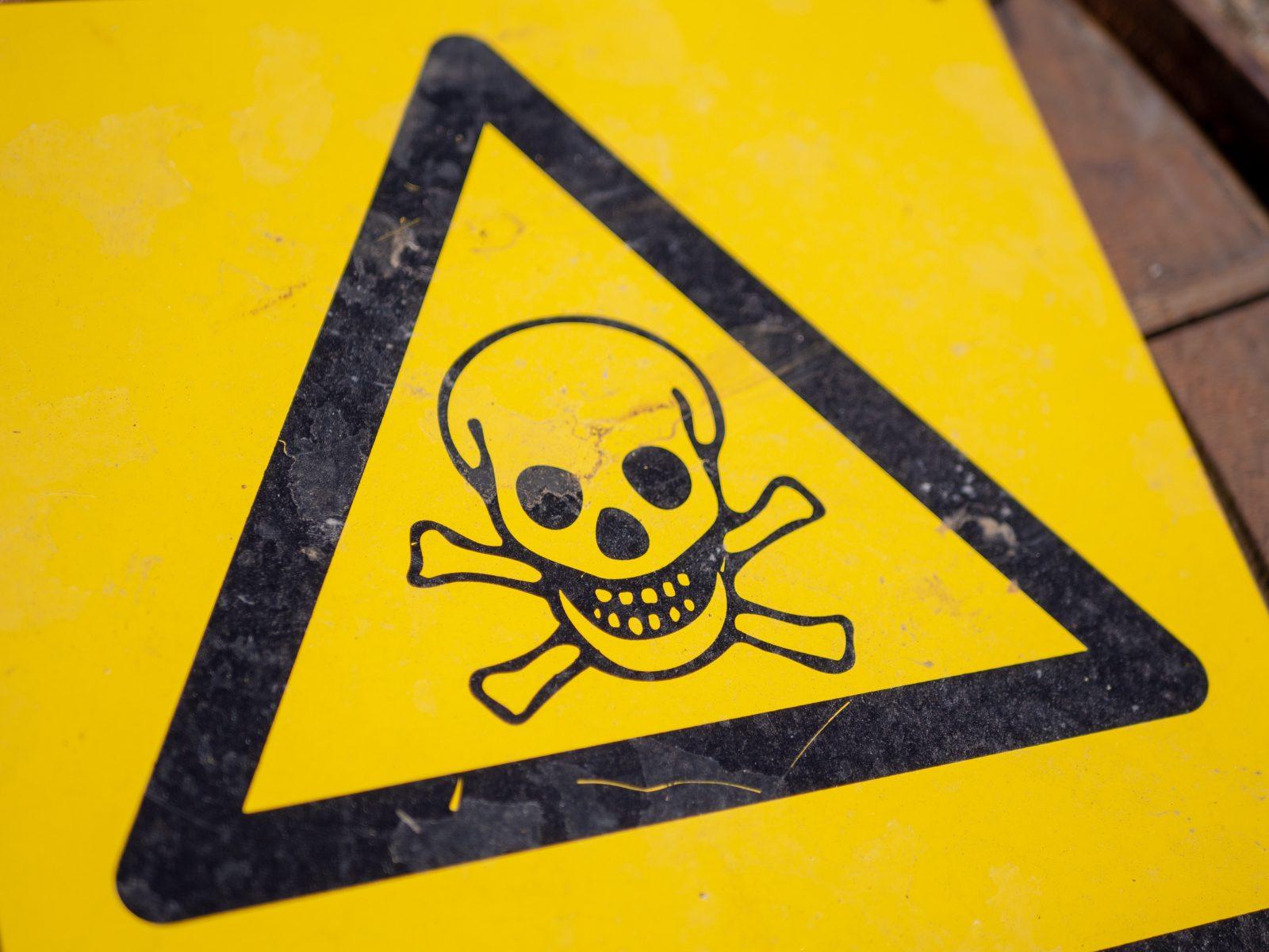Danger sign representing credit risk