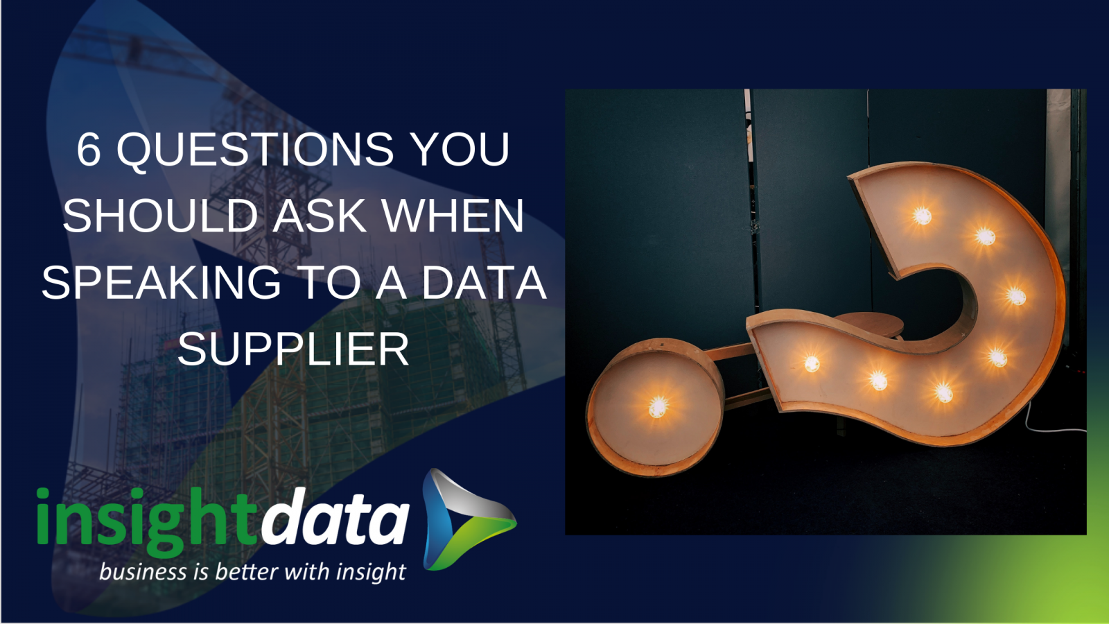Question mark title card speaking to a data supplier